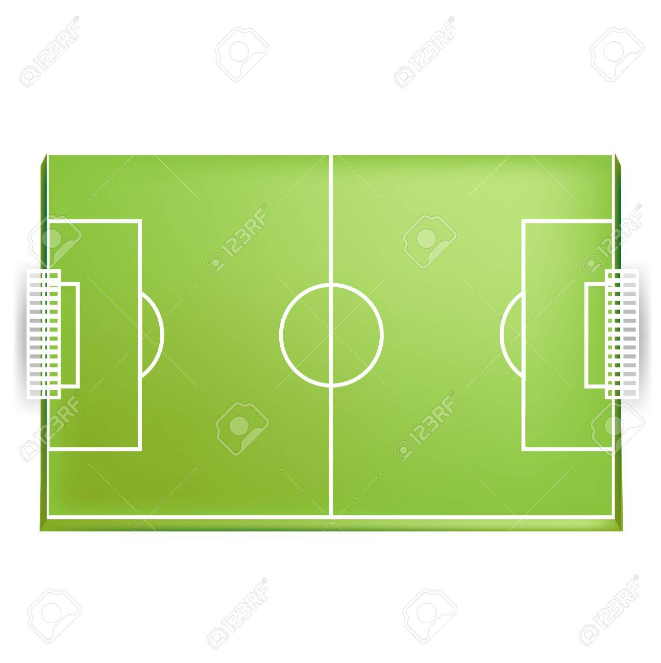 1295x1300 Soccer Field Or Football Field From Above View Isolated Royalty