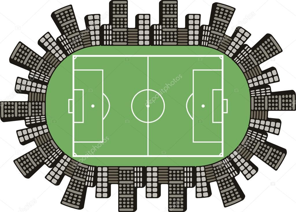 1024x732 Football Field Logo Stock Vector Koksikoks