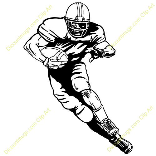 500x500 Football Player Clipart
