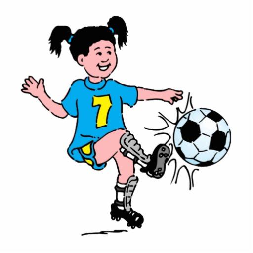 512x512 Girl Clipart Footballer