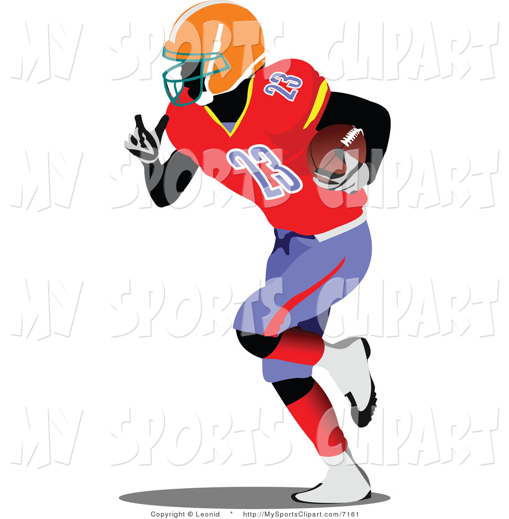 1024x1044 Sports Clip Art Of A American Football Player By Leonid