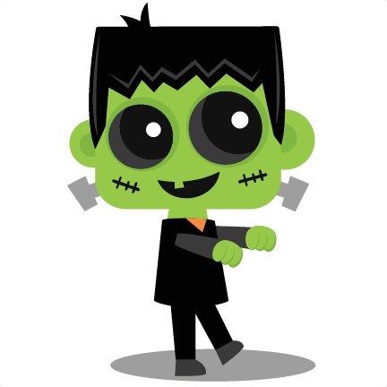 432x432 Walking Frankenstein Svg Scrapbook Cut File Cute Clipart Files