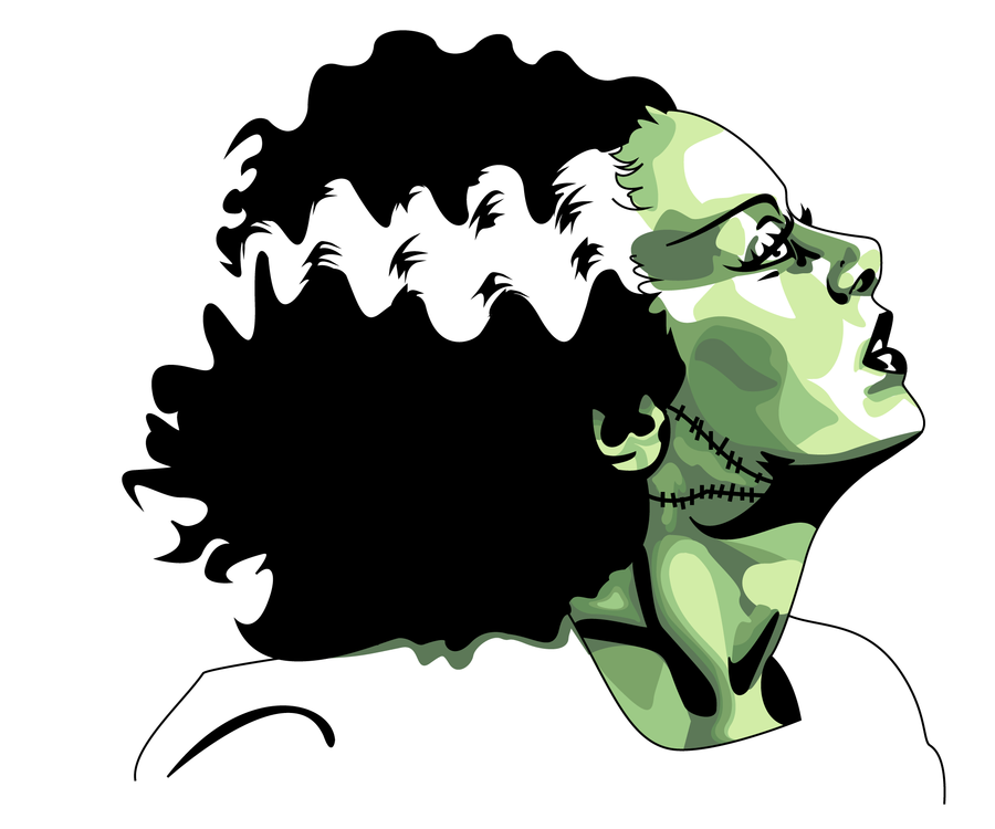 900x750 Bride Of Frankenstein Clipart