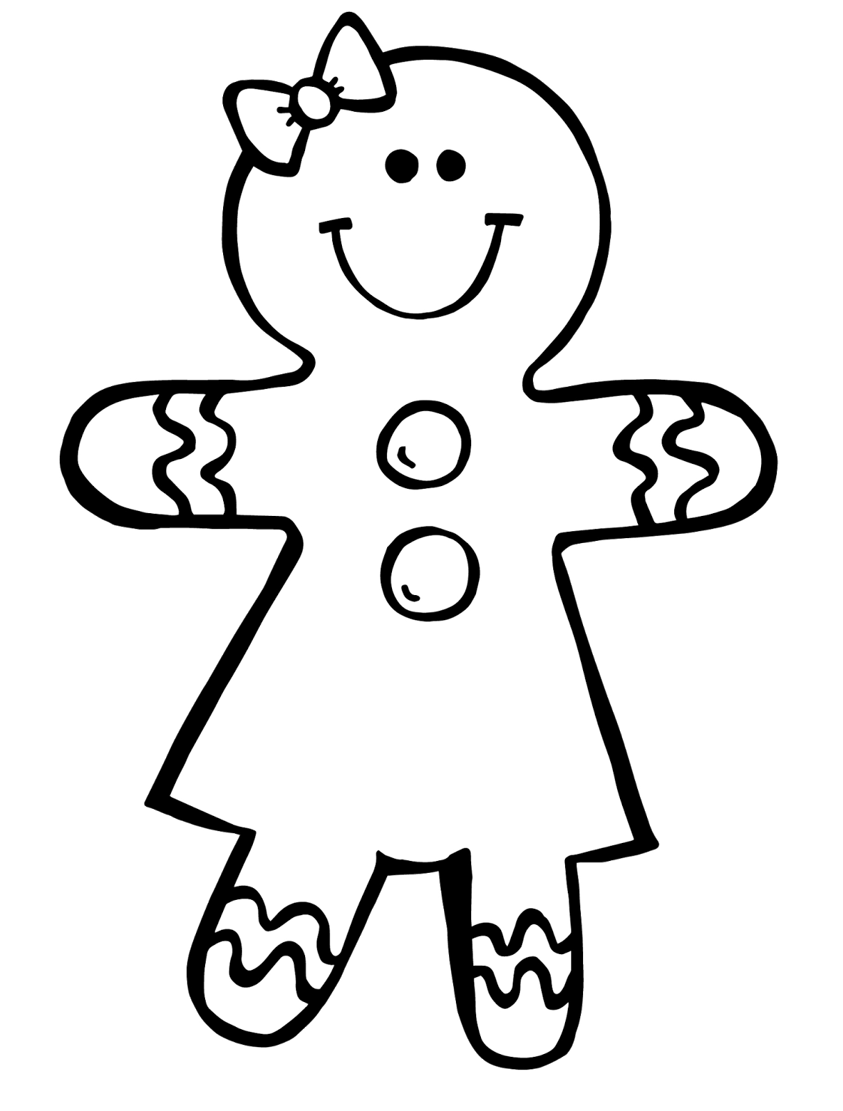 1213x1600 Gingerbread Man Black And White Clipart 2