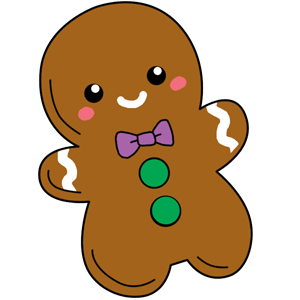 300x300 Mini Comfort Food Gingerbread Man An Adorable Fuzzy Plush