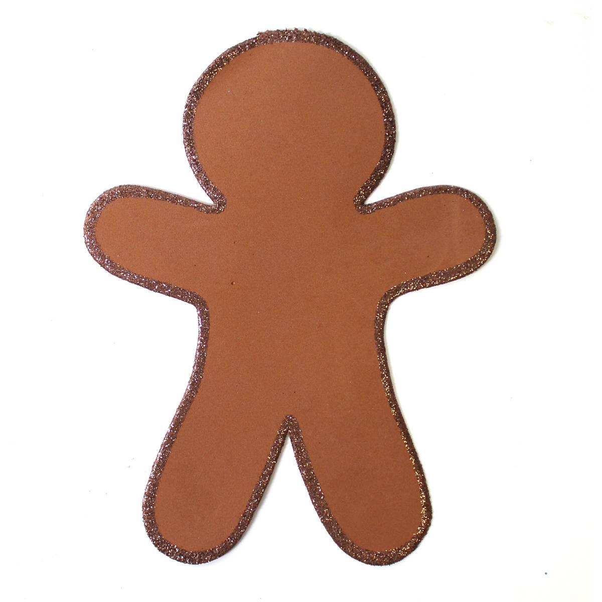 1200x1200 Christmas Gingerbread Man Foam Shape 4 Pack Hobbycraft