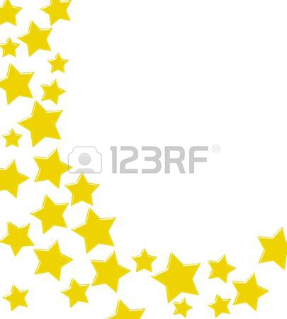 405x450 Gold Stars Making A Border On A White Background, Winning Gold