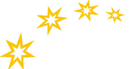 455x239 Gold Star Stars Gold Curved Dividers Clip Clipart
