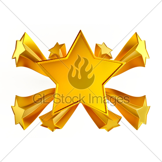 325x325 Set Of Six Shiny Gold Stars In Motion Gl Stock Images