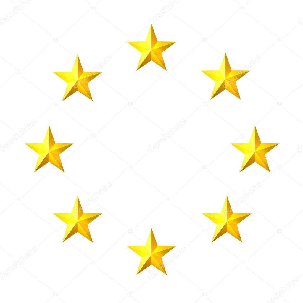 1024x1024 The Circle Of Gold Stars On A White Background. Element For Your
