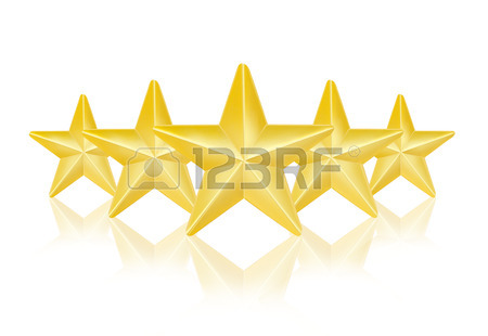 450x310 Three Gold Stars On White Background Stock Photo, Picture
