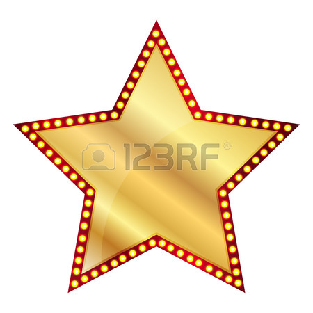 450x450 Vector Illustration Of 3 Gold Stars Royalty Free Cliparts, Vectors
