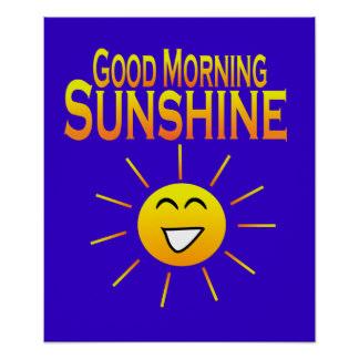 324x324 Good Morning Sunshine Posters Zazzle