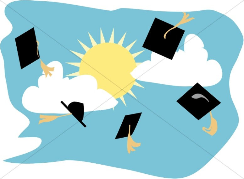 776x571 Graduation Caps In The Air Christian Graduation Clipart And Images