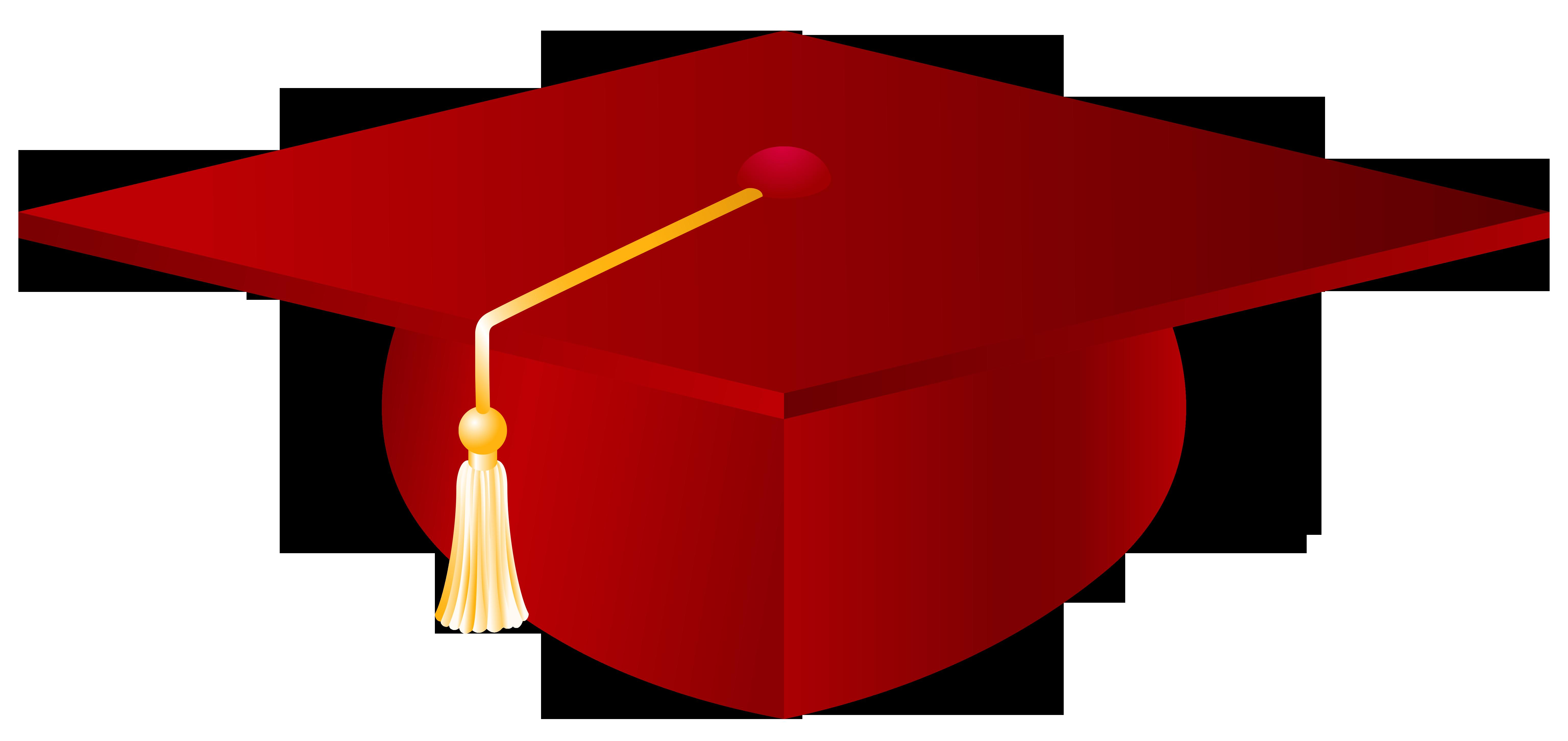 6144x2904 Red Graduation Cap Png Vector Clipart Imageu200b Gallery
