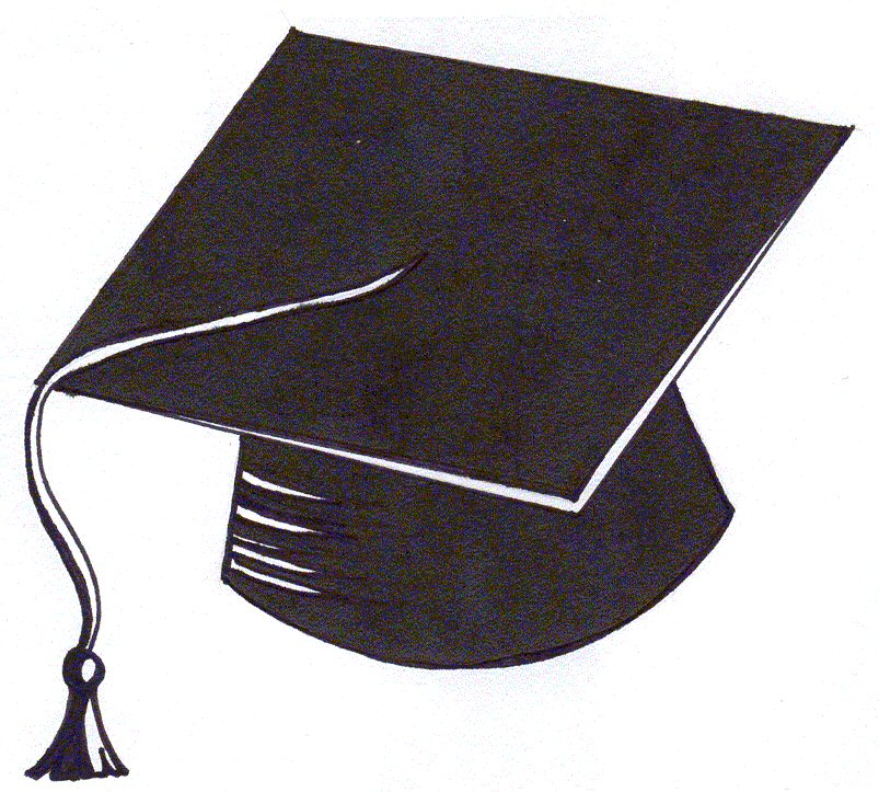 803x723 Graduation Cap Cartoon