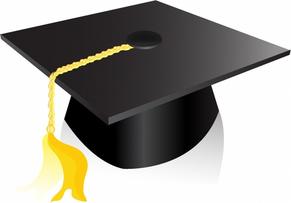 600x419 Graduation Cap Free Vector In Adobe Illustrator Ai ( Ai