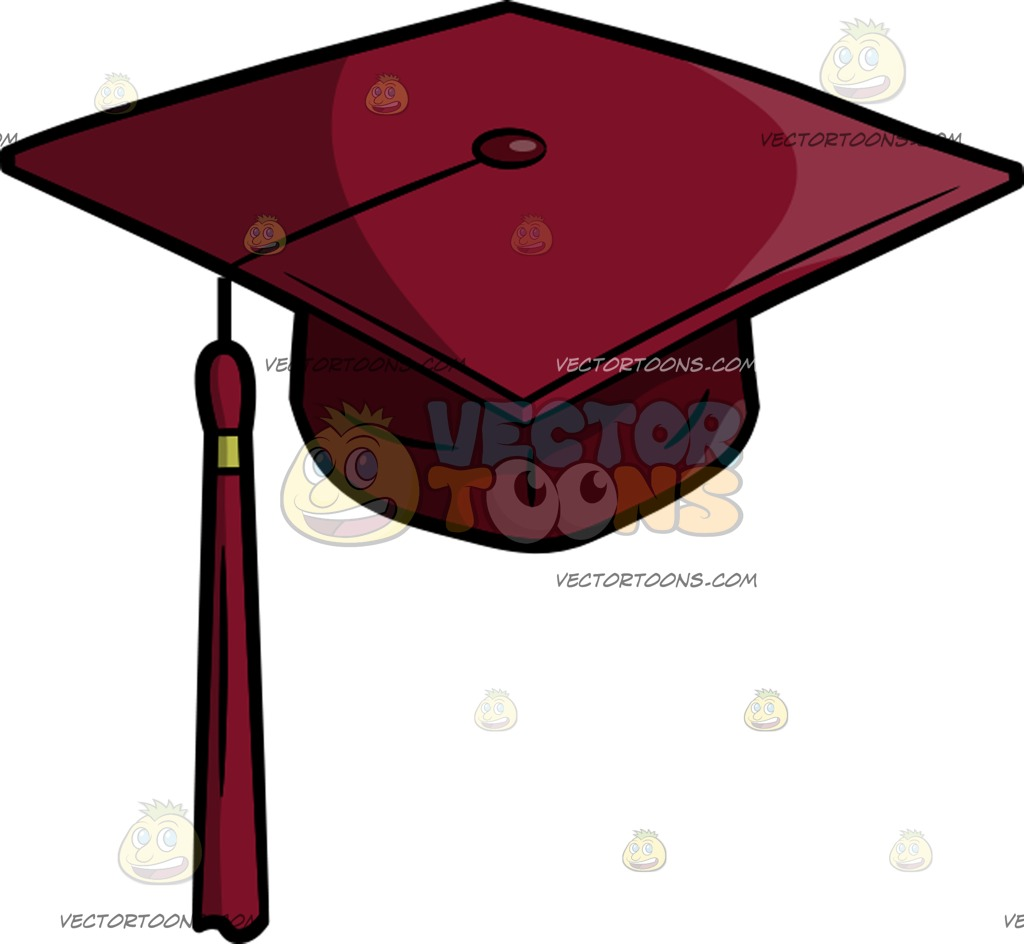 1024x944 A Senior Year Graduation Cap Cartoon Clipart