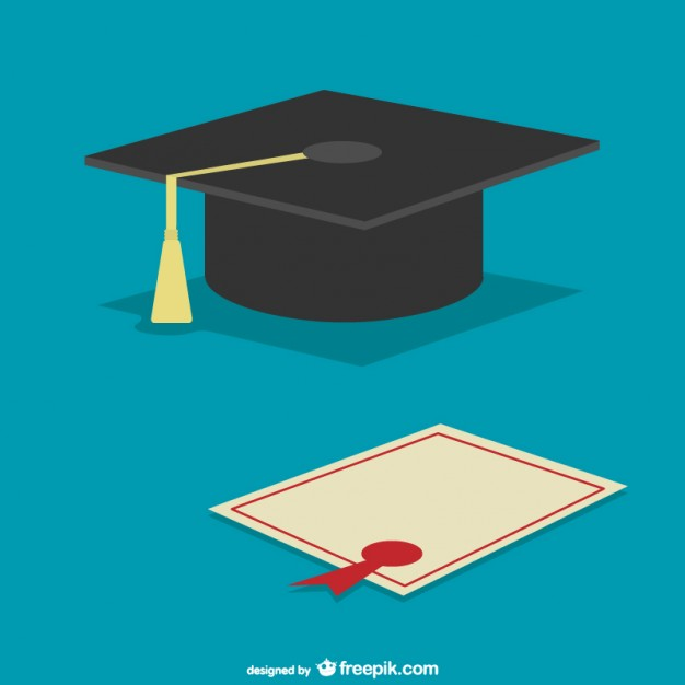626x626 Graduation Cap And Diploma Vector Free Download
