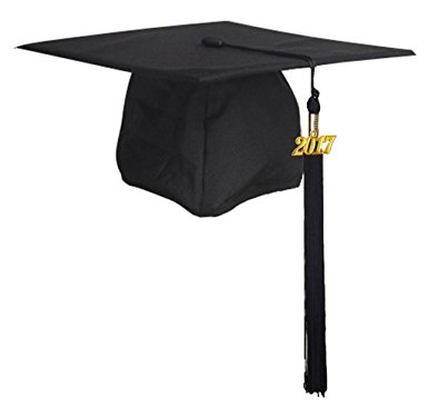 385x374 Graduationmall Unisex Adult Matte Graduation Cap With Tassel 2017
