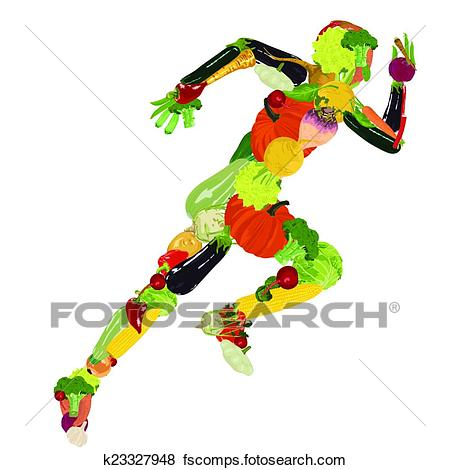 450x470 Clip Art Of Healthy Lifestyle K23327948