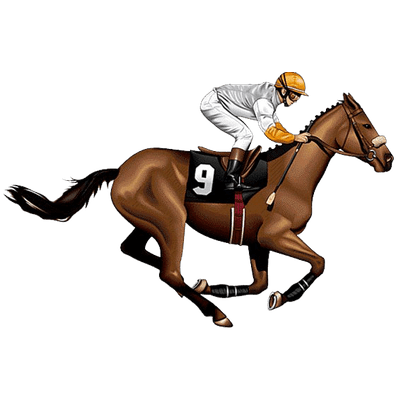 400x400 Race Horse And Jockey Vintage Clipart Transparent Png