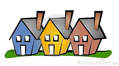 400x222 Colourful House Silhouettes Clip Art Stock Image Image 1 2 Image