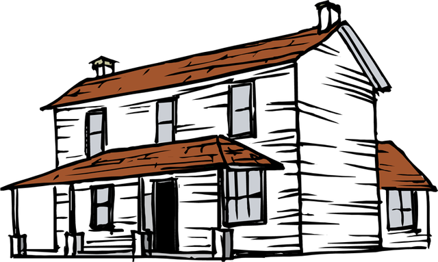 640x383 Cottage Clipart Old House