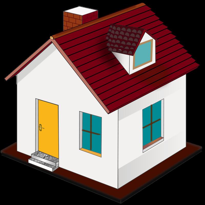 800x800 Home Free House Clip Art Clipart Clipartcow Clipartix