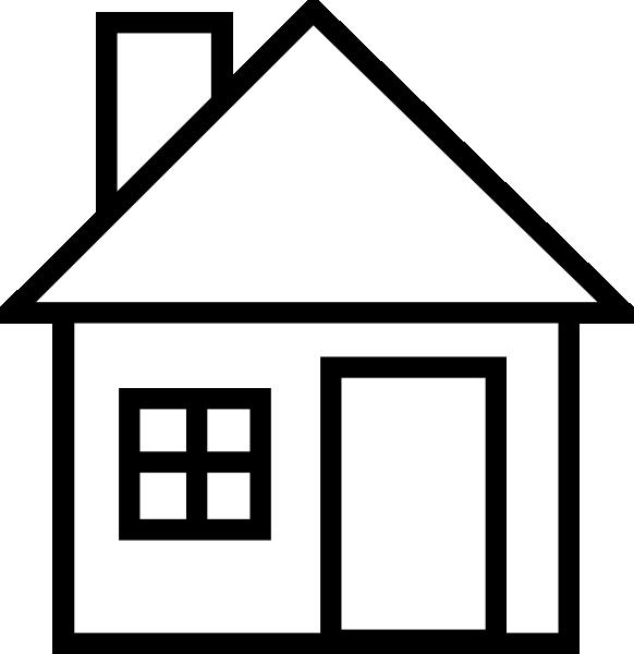 582x600 School House Clip Art Black And White Clipart Panda