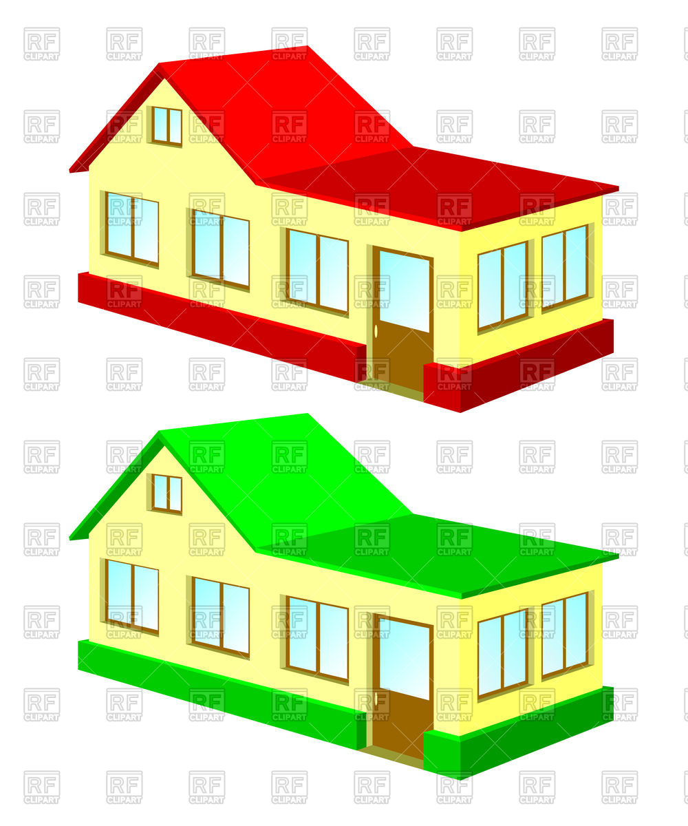 1000x1200 Two House Royalty Free Vector Clip Art Image