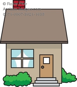264x300 Bungalow Clipart Small House