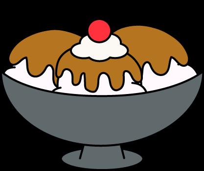 417x351 Caramel Ice Cream Sundae Clip Art