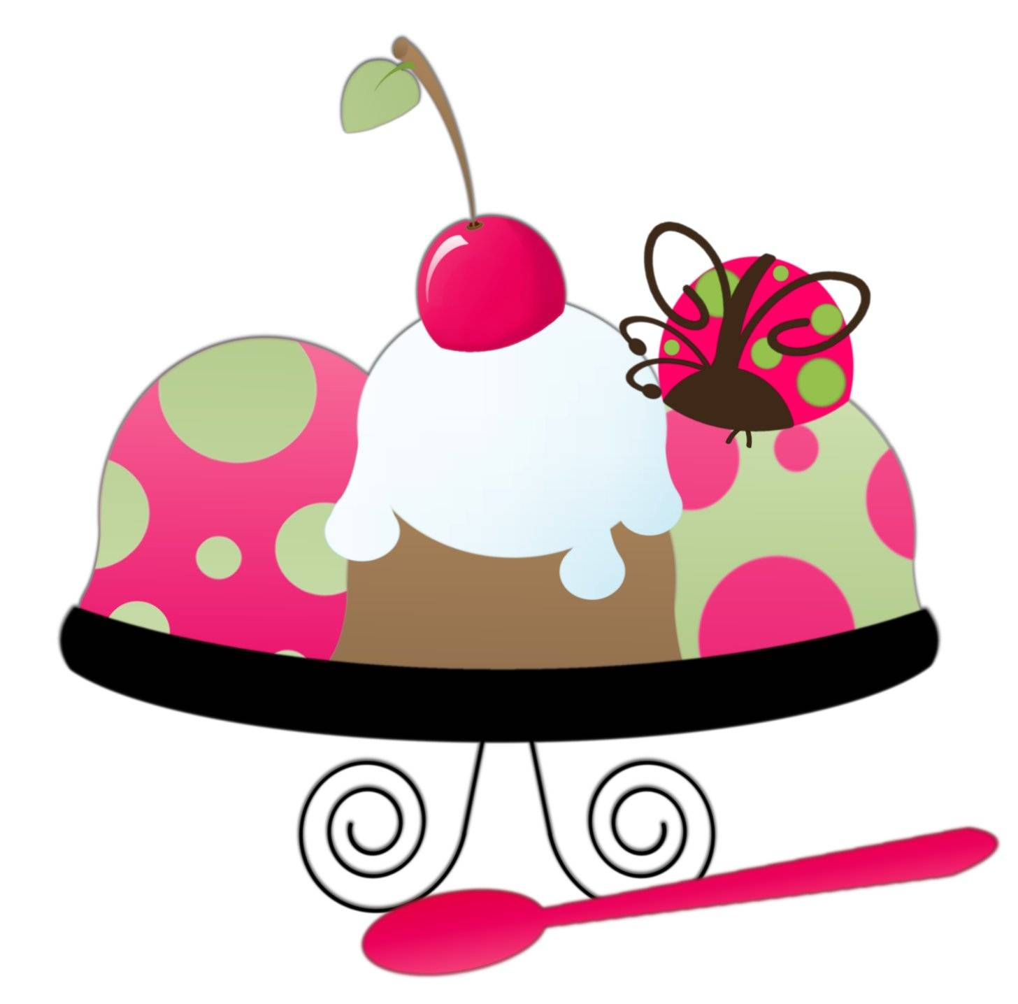 1456x1436 Cartoon Ice Cream Sundae Clipart Panda