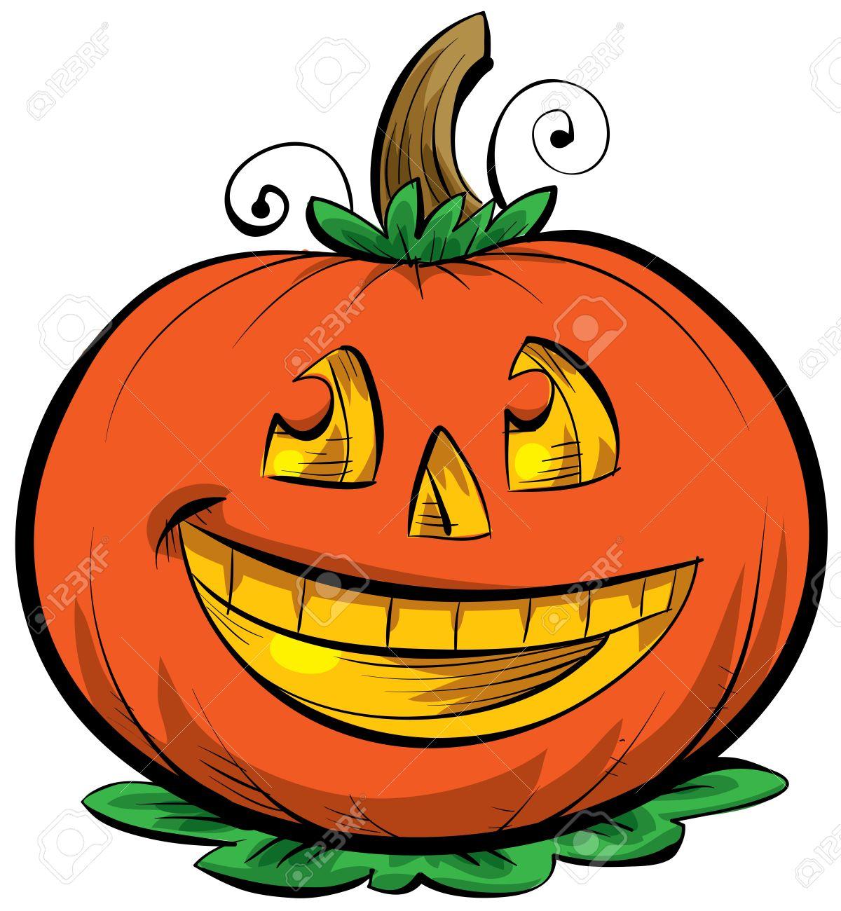 1200x1300 A Smiling, Cartoon Jack O' Lantern Stock Photo, Picture