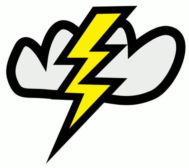 640x570 Cloud Clipart Lightning Bolt