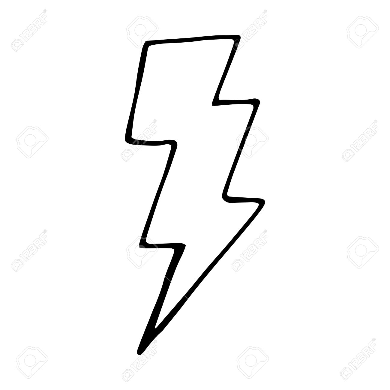 1300x1300 Drawn Lightning Lightning Bolt