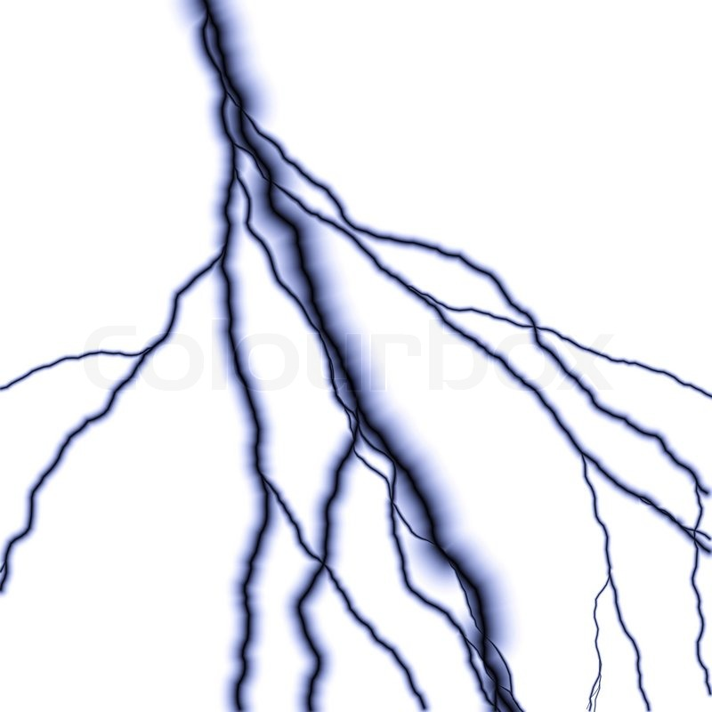 800x800 Bolts Of Lightning Isolated Over A White Background Stock Photo