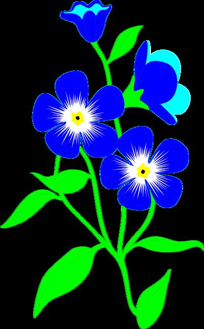 400x645 Blue Flower Clipart May Flower