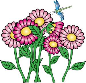 300x290 Flowers Butterflies May Clipart