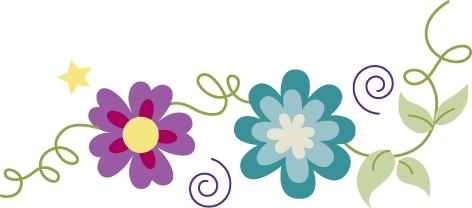 472x208 May Flowers Border Clip Art