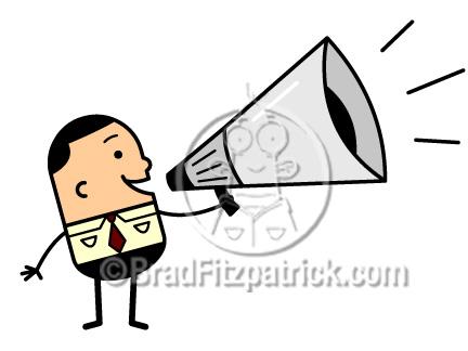 432x324 Cartoon Man With Megaphone Clipart Man With Megaphone Clip Art