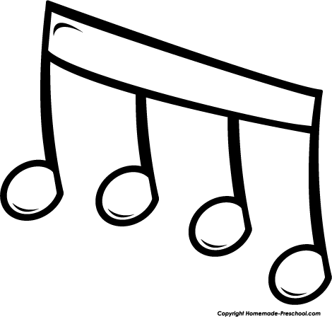 470x448 Free Music Notes Clipart