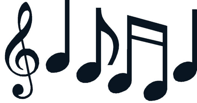 670x349 Music Notes Clipart Motion