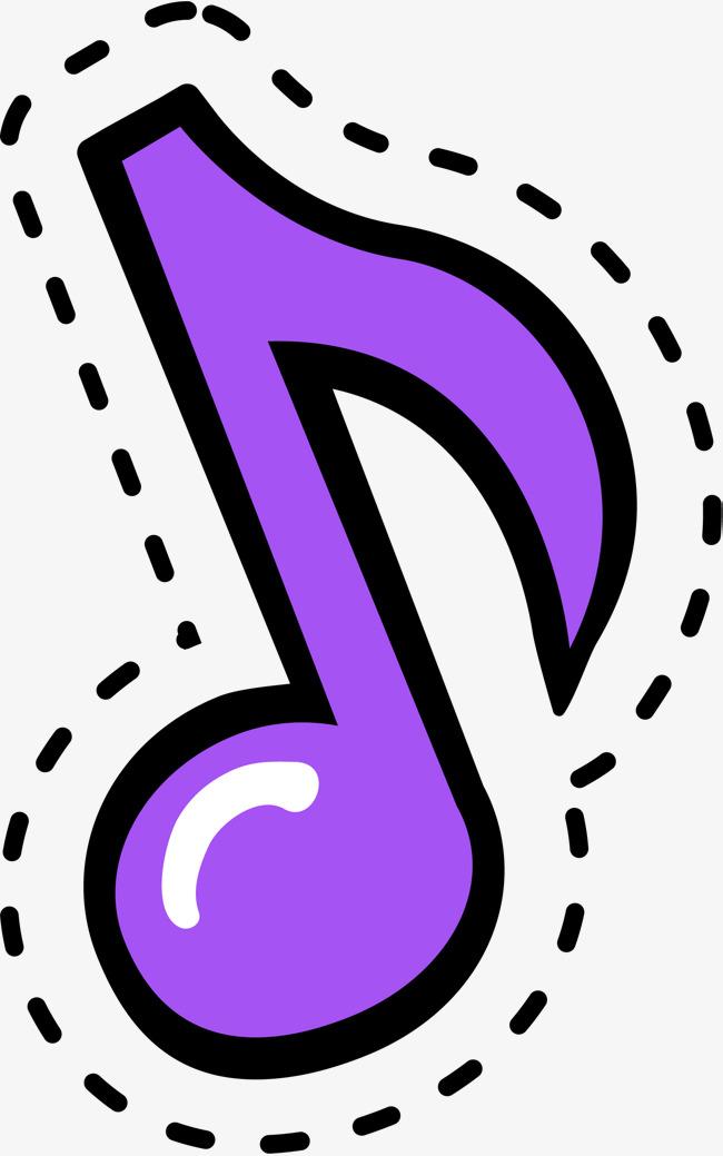 650x1039 Cartoon Purple Music Symbol, Cartoon, Lovely, Music Notation Png