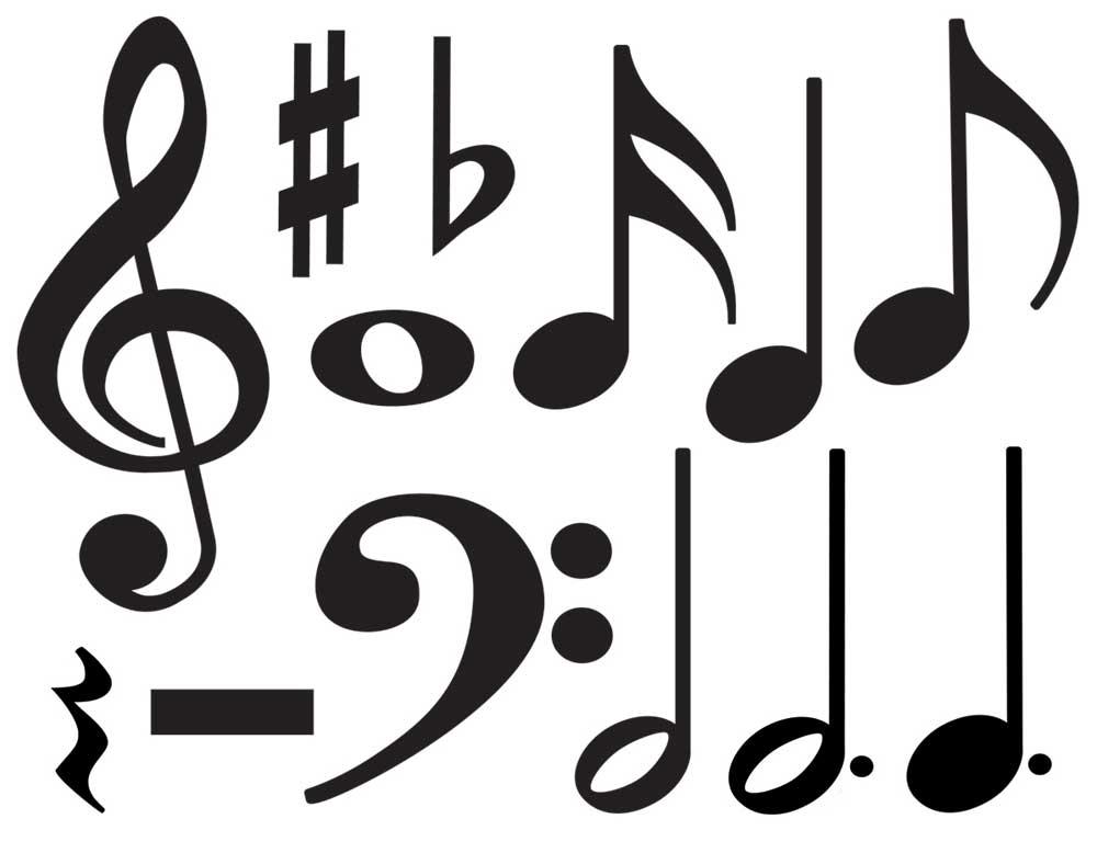 1000x778 Buy Music Symbols Accent Pack Music Media Music Silhouette