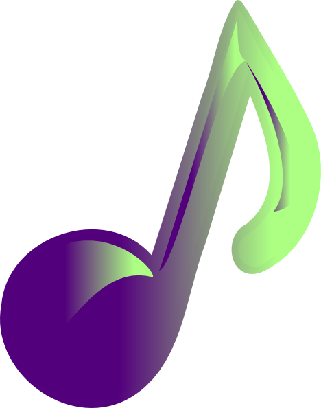 468x594 Free Colorful Music Notes Clipart Image