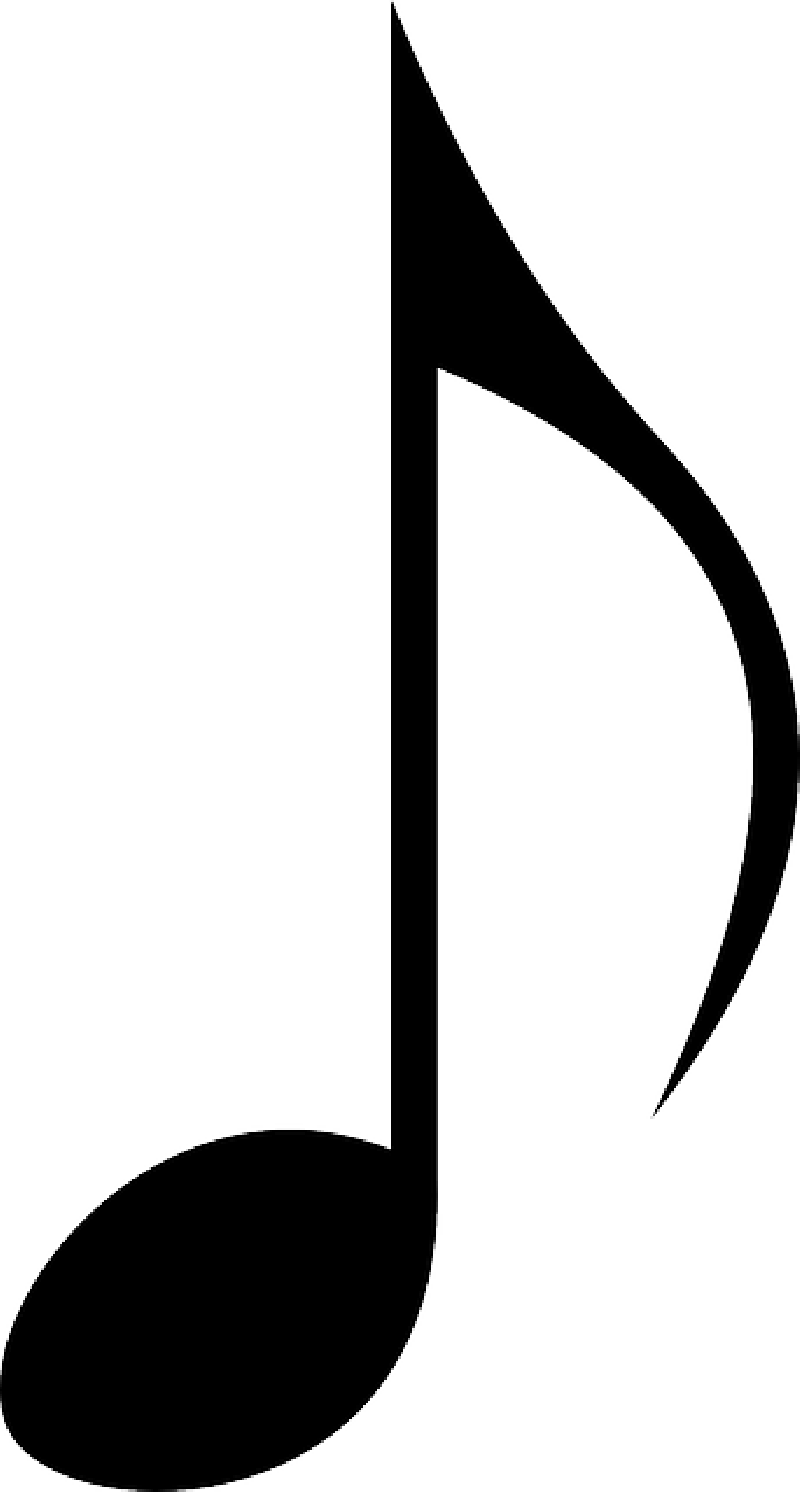 800x1492 Music Notes Clipart Outline