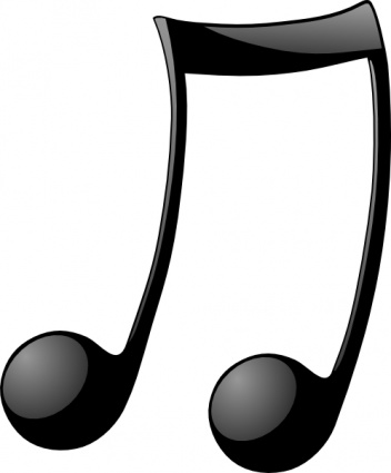 352x425 Musical Note Clip Art