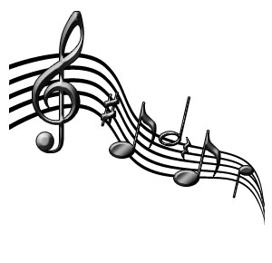 300x290 Free Clipart Musical Notes